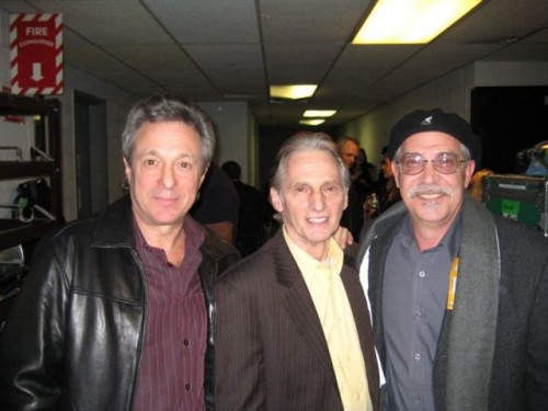 My pal Charlie Busterna, David Brigati from the Young Rascals and me backstage at B.B.Kings in N.Y.C.