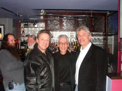 Randy with Pat Martino and fellow guitarist Scott Ross at Iridium, NYC/November 2006.