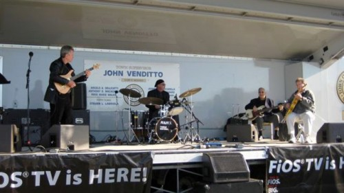 At the 2008 Oyster Fest in Oyster Bay with Charlie Busterna on drums, Louie Messana on Guitar and the great Pete Chivily on bass who passed away last year.