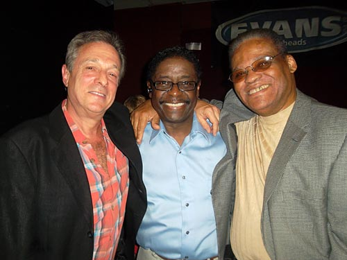 Randy with my good buddies, Gerald Alston, lead singer of the Manhattans & musician & singer Eddy Jacobs after a great concert at B.B Kings.